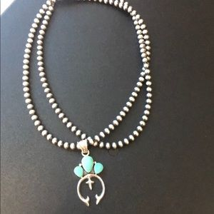 Jewelry - Authentic Navajo pearls and signed pendant!